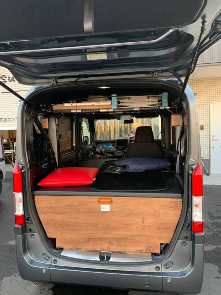 N-VAN車中泊ベッド